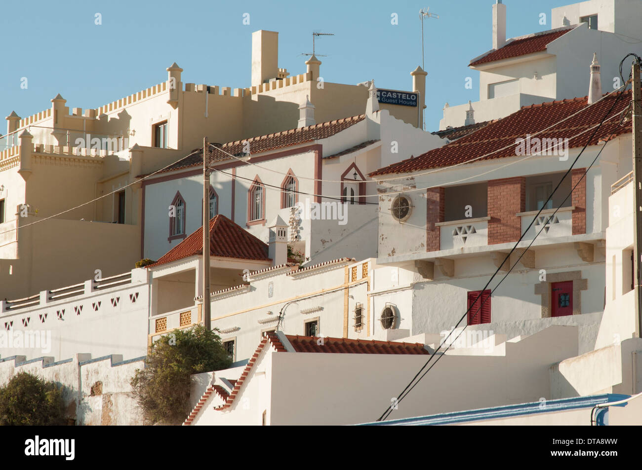 the town of Carvoeiro in the Algarve Portugal Stock Photo