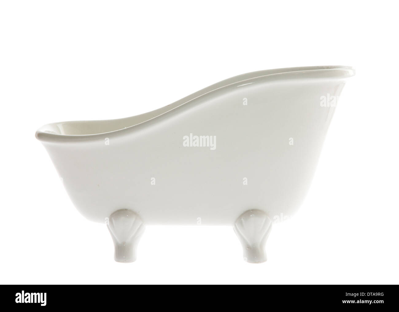 classic white standing bathtub isolated on white - Stock Image