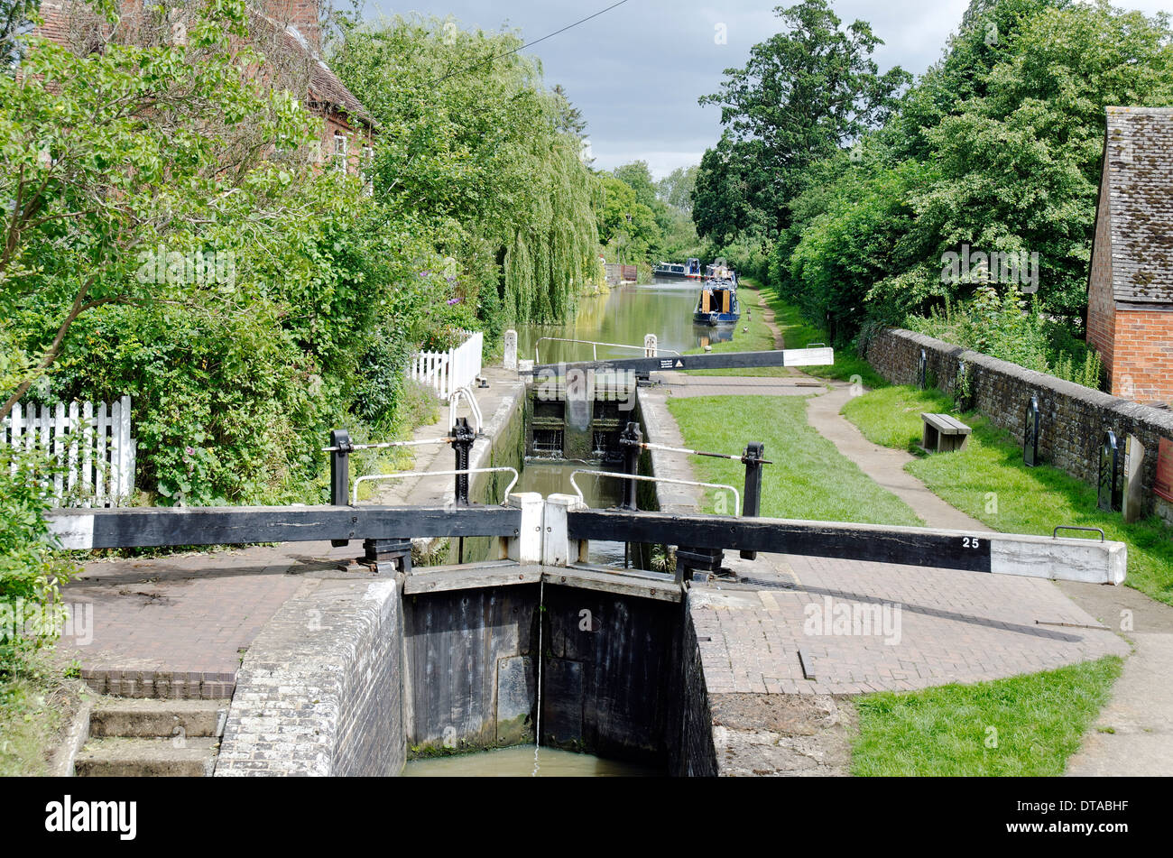 Cropredy Lock on the (South) Oxford Canal - Stock Image