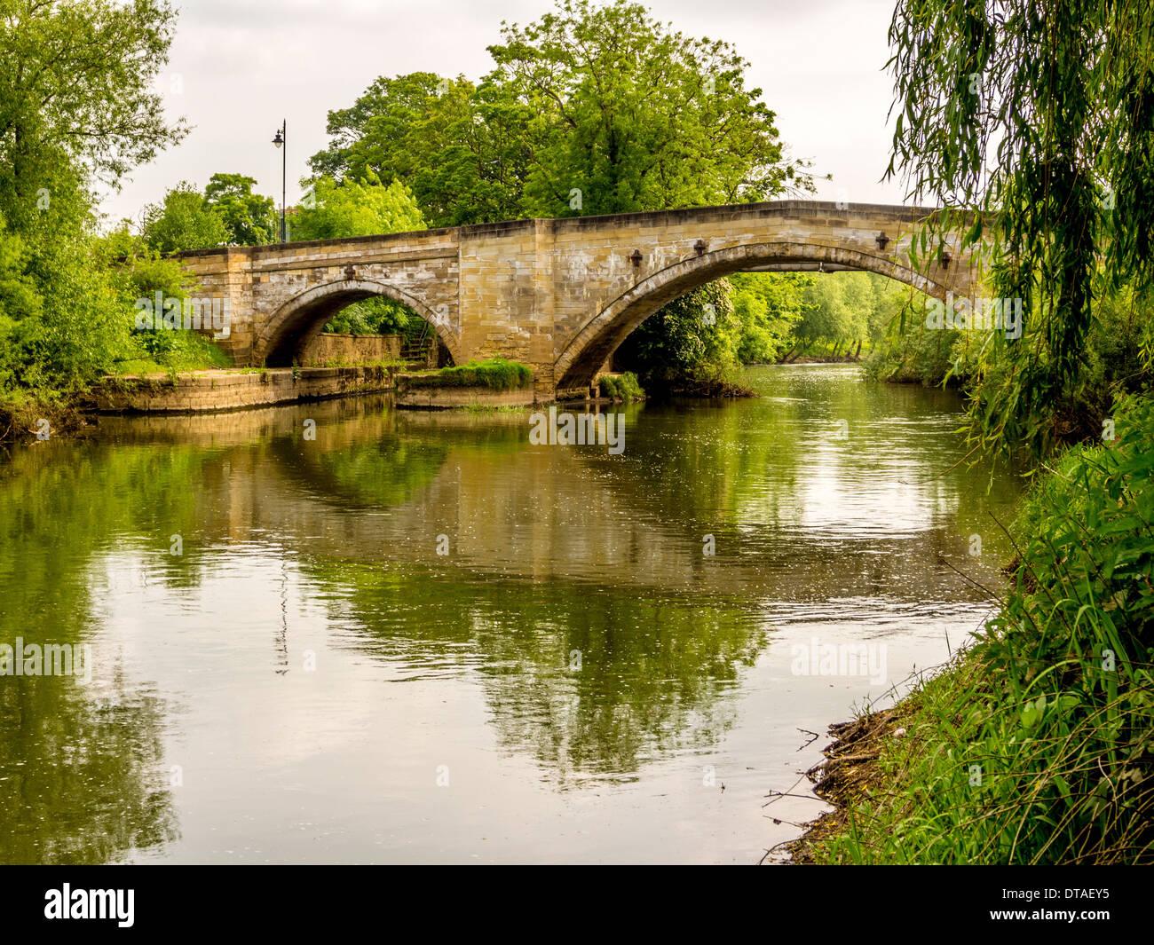 Bridge over River Derwent at Stamford Bridge, Yorkshire. - Stock Image