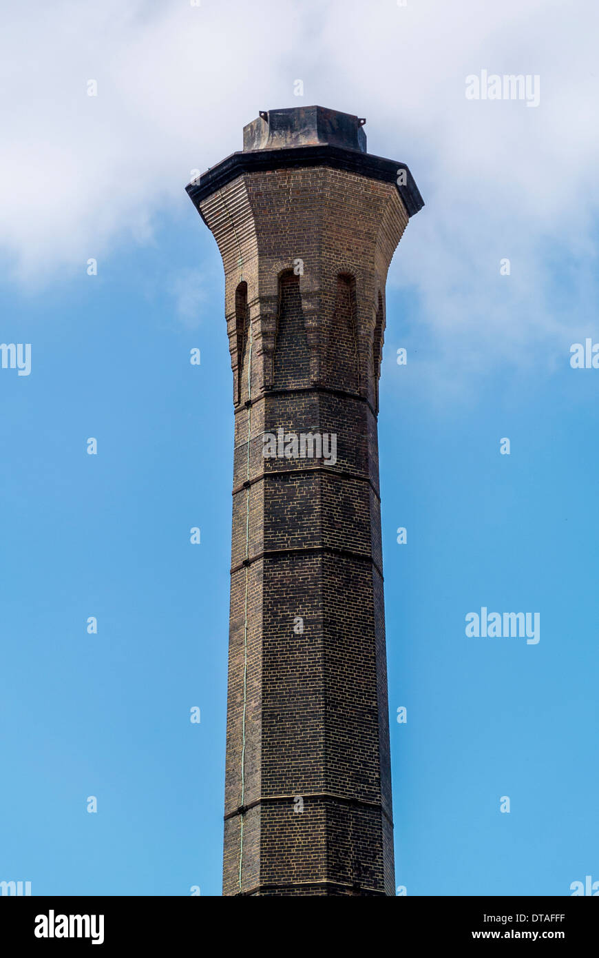 Old incinerator chimney. Foss Islands, York. - Stock Image