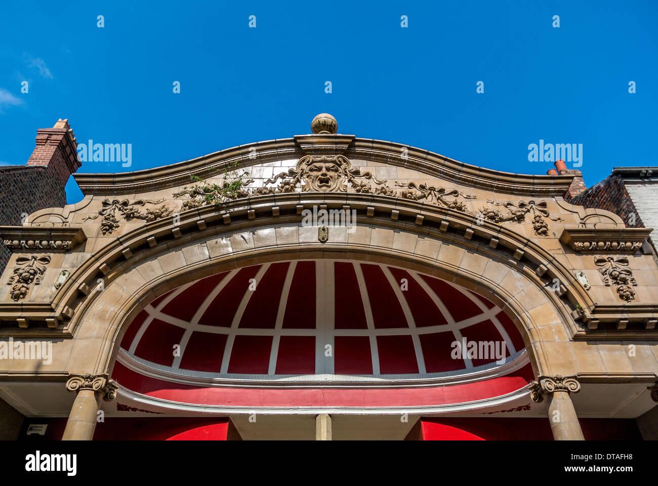 Ornate frontage of McDonalds Furniture shop, Fossgate, York. - Stock Image