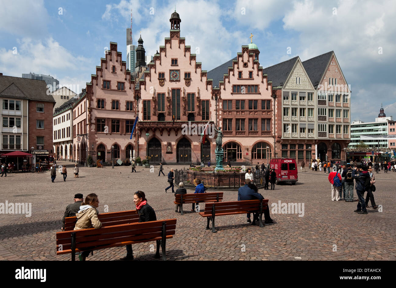 frankfurt am main marktplatz stock photo 66616058 alamy. Black Bedroom Furniture Sets. Home Design Ideas