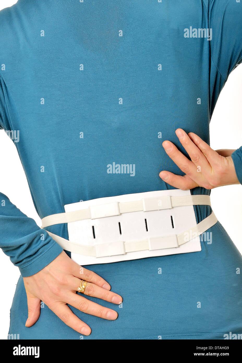 Medical Belt Brace for Spine - Stock Image
