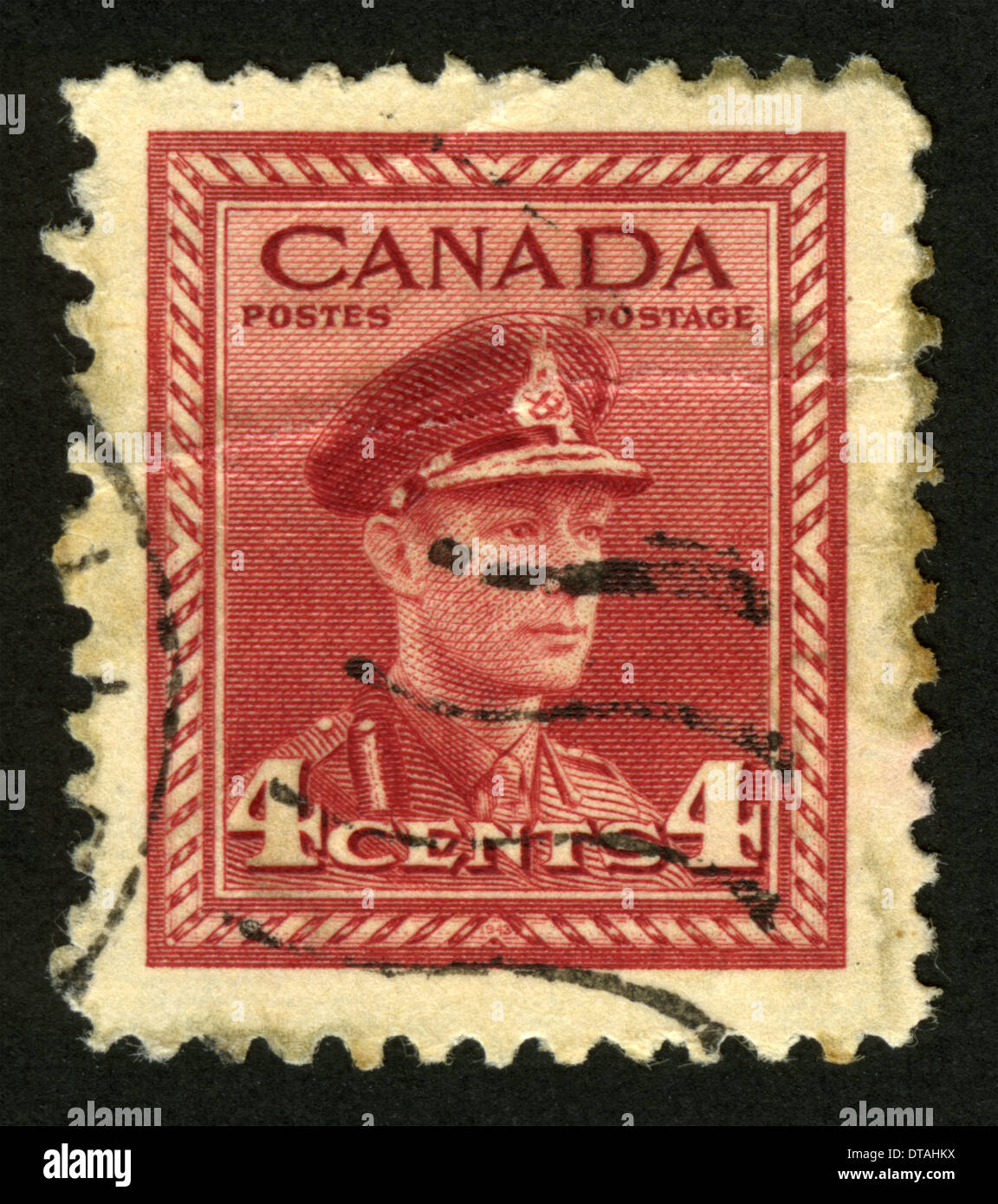 Canadian Postage Stamp Canada King George Vi Stock Photo