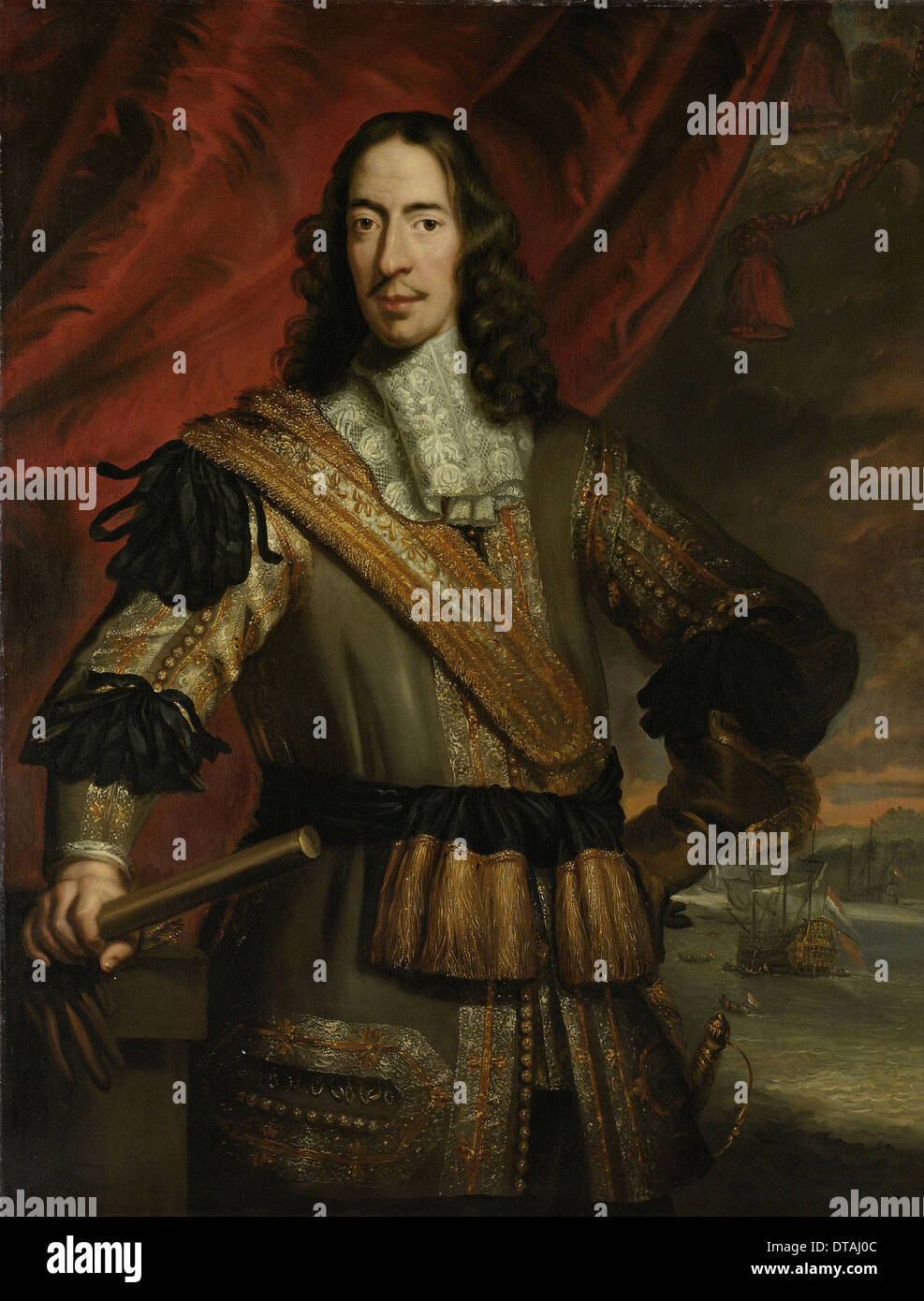 Portrait of Cornelis de Witt (1623-1672), Between 1667 and 1700. Artist: Baen, Jan de (1633-1702) - Stock Image