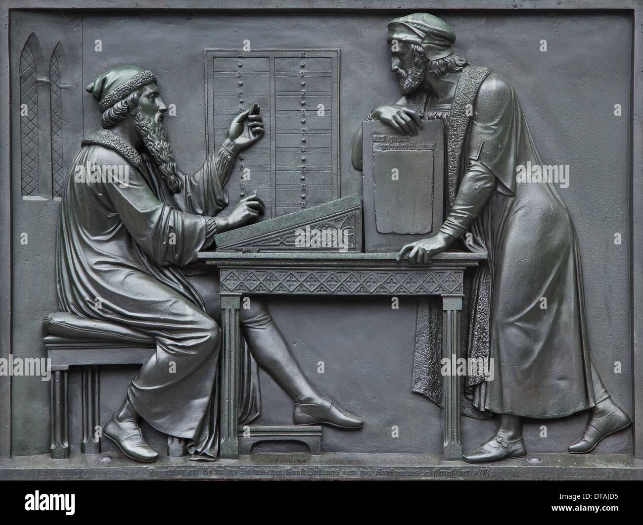 Mainz, Gutenbergdenkmal - Stock Image