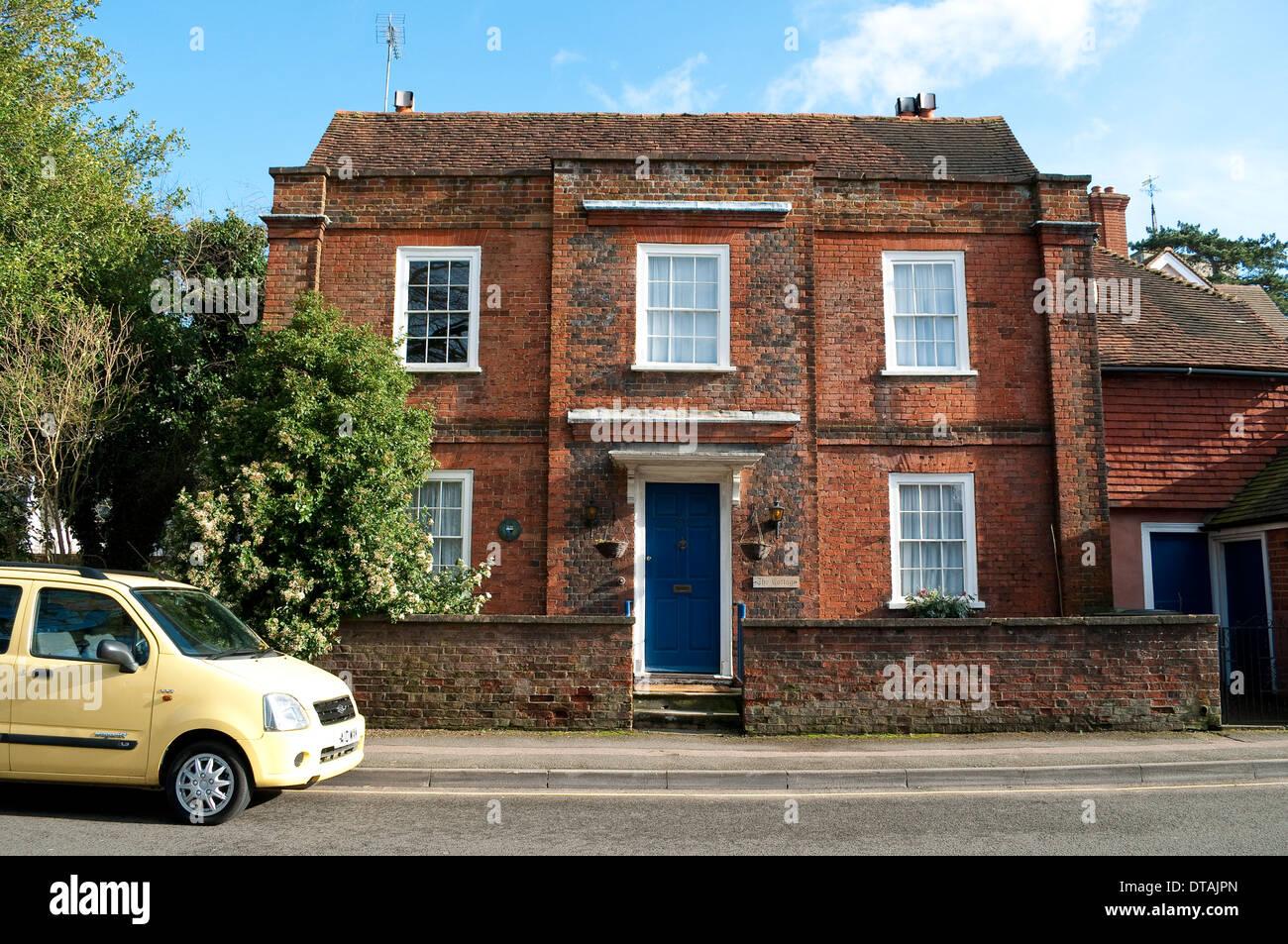 Georgian brick house, Leatherhead, Surrey, England, UK Stock Photo