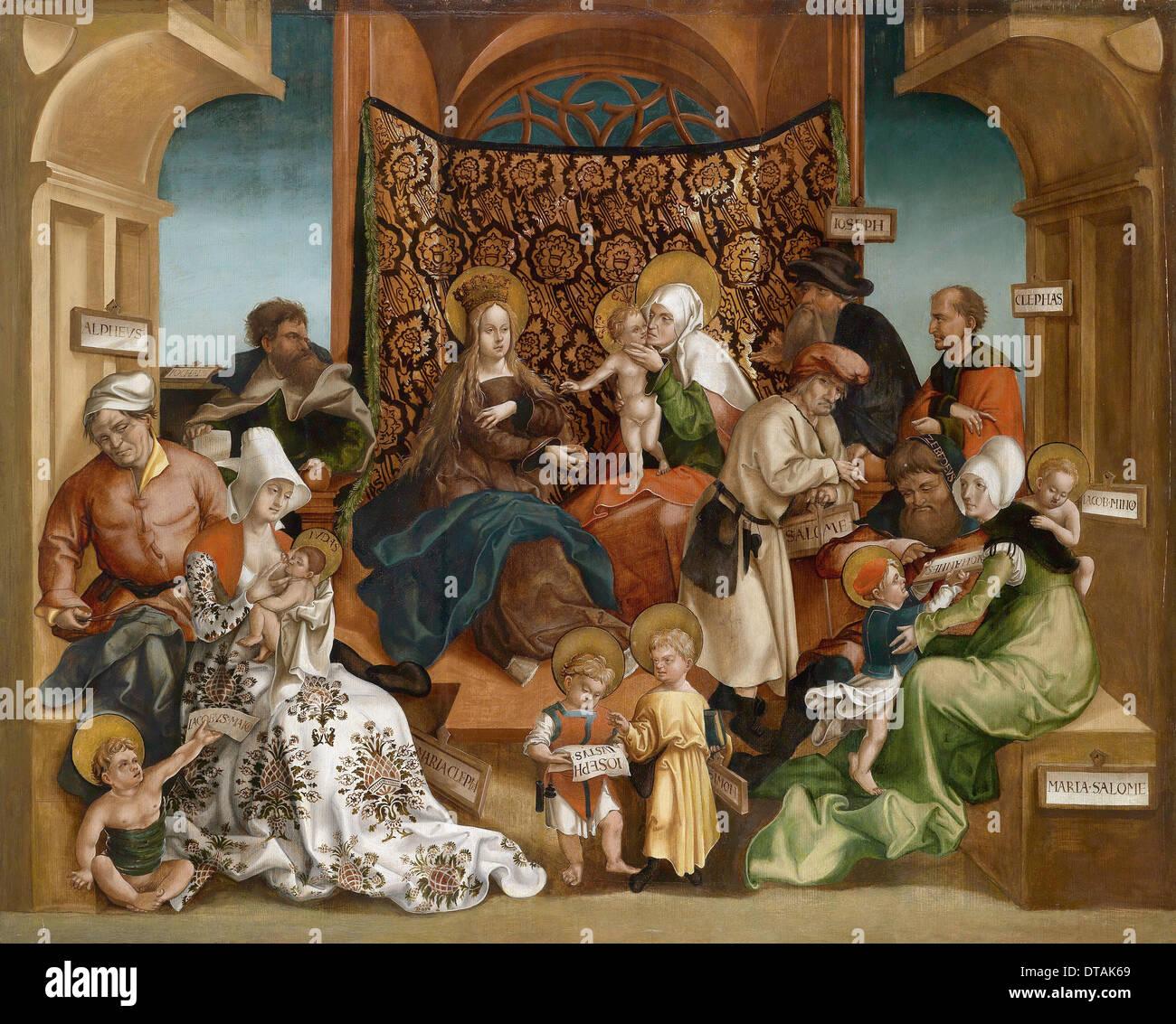 The Holy Kinship. Artist: Breu, Jörg, the Younger (1510-1547) - Stock Image
