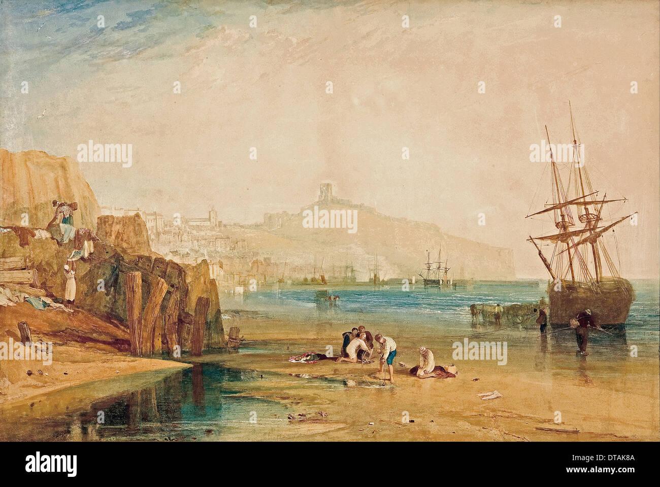 Scarborough, morning, boys catching crabs, c. 1810. Artist: Turner,