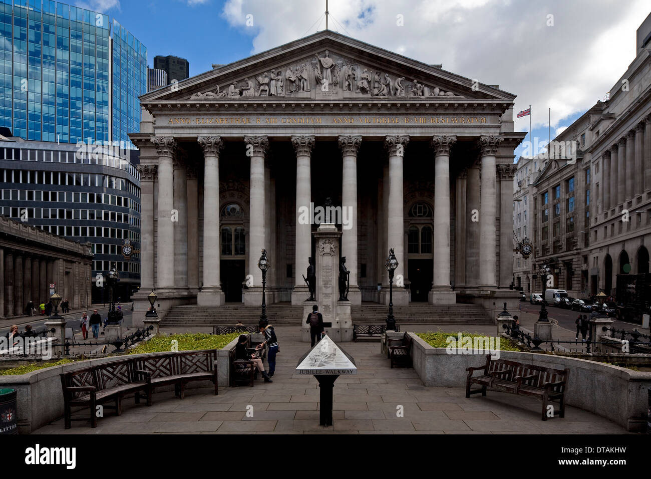 London, Royal Exchange - Stock Image