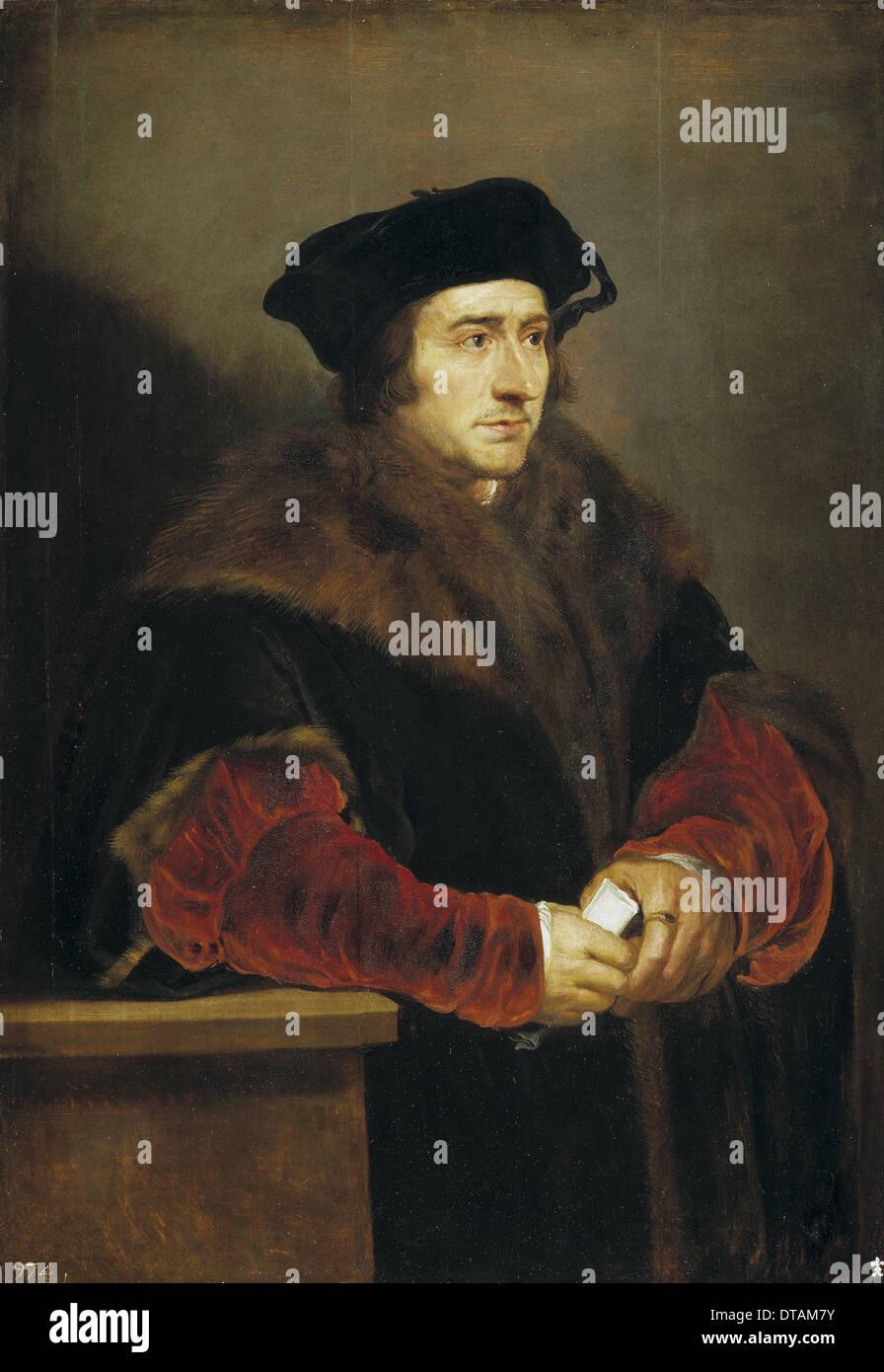 Portrait of Sir Thomas More, 1625-1630. Artist: Rubens, Pieter Paul (1577-1640) - Stock Image