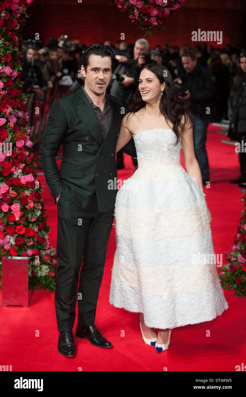 Colin Farrell and Jessica Brown Findlay A New York Winter's Tale UK film premiere held at the Odeon Kensington, Arrivals. - Stock Image