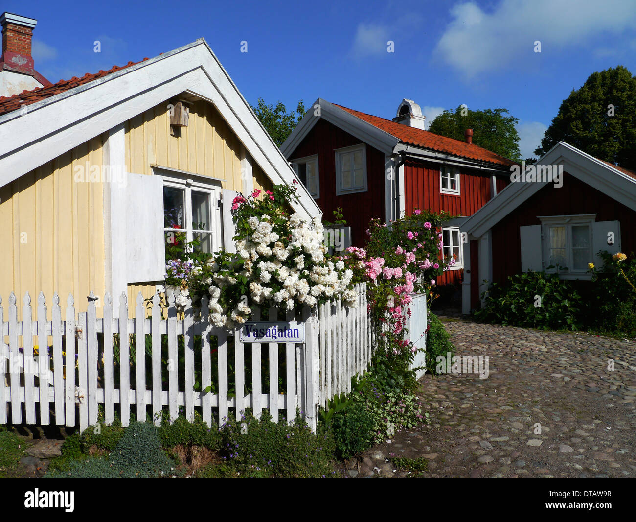 vasagatan in kalmar, småland, sweden - Stock Image