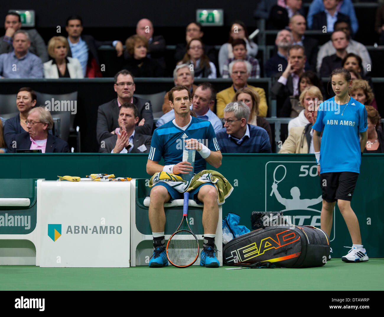 Andy Murray(GRB) at the ABN AMRO World tennis Tournament