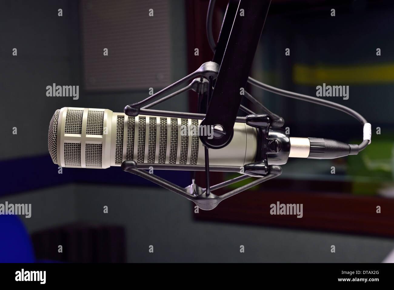 radio studio microphone - Stock Image