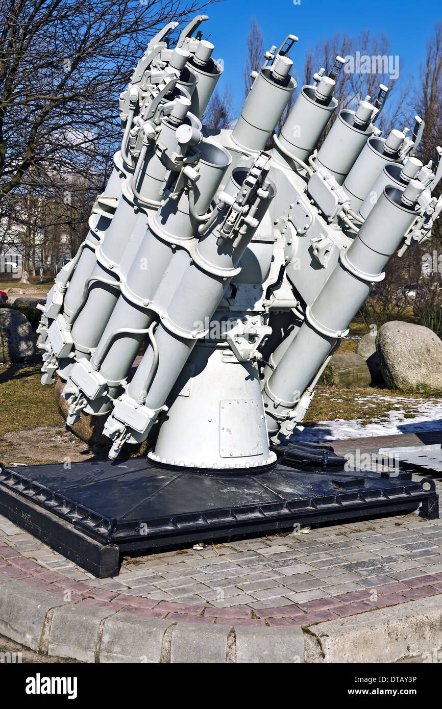 Soviet ship missile launcher. Museum of the World ocean. Kaliningrad (Koenigsberg before 1946), Russia - Stock Image