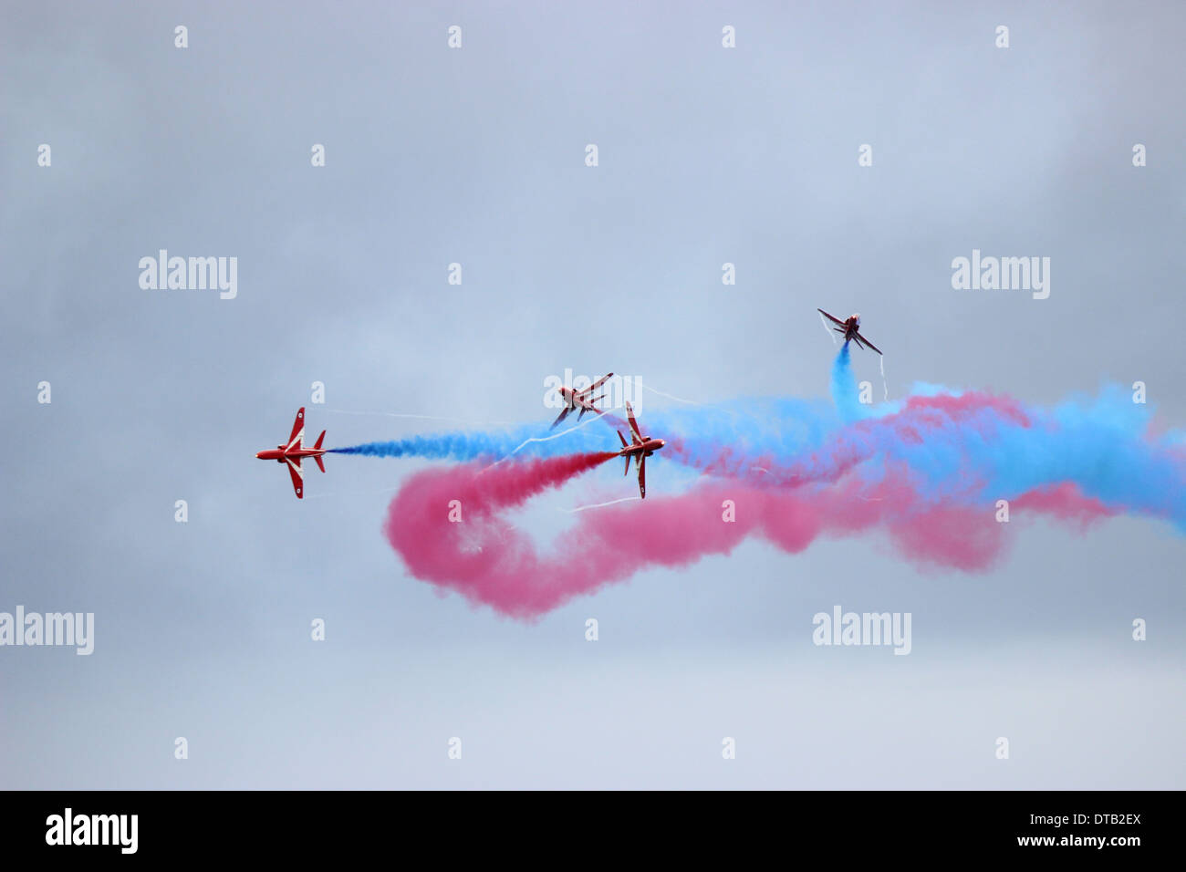 Red Arrows - Great North Run 2013 - Stock Image