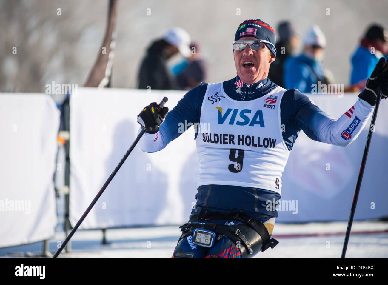 2014 U.S. Paralympics Nordic Skiing Nationals - Stock Image