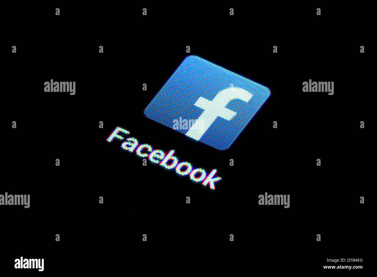 Berlin, Germany, App icon for Facebook on a smartphone - Stock Image