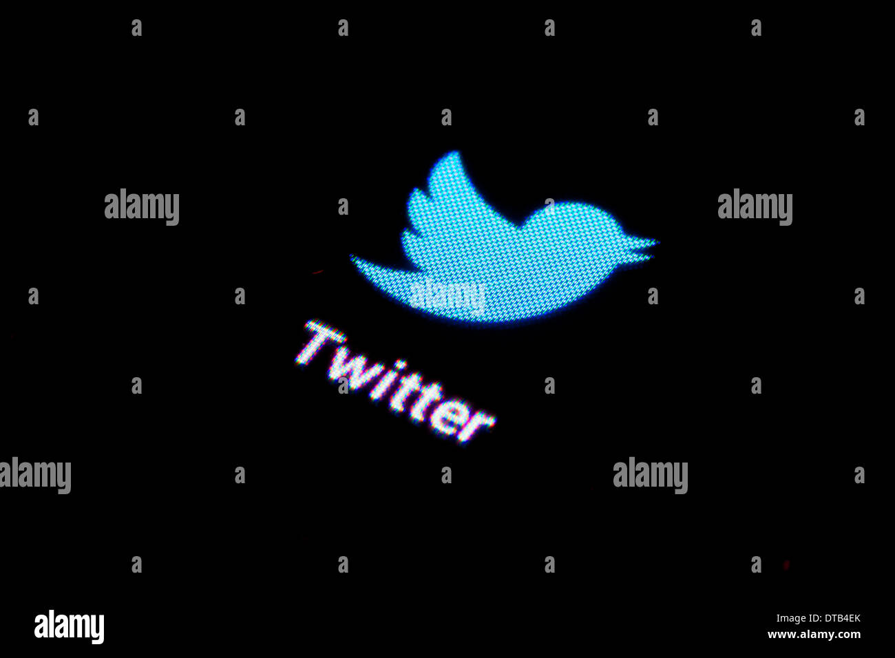 Berlin, Germany, App icon for Twitter on a smartphone - Stock Image