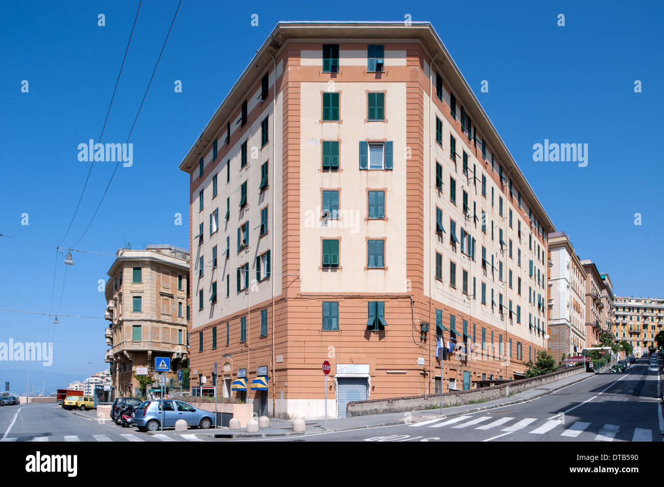 Genoa, Italy, House in Via Nizza in Genova- Albaro - Stock Image
