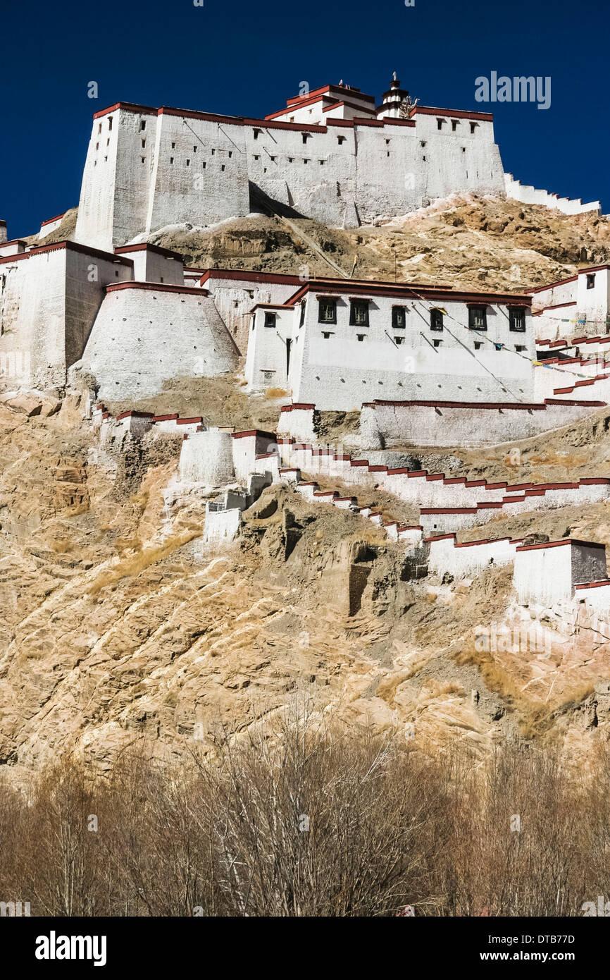 Gyantse dzong fort, Tibet - Stock Image
