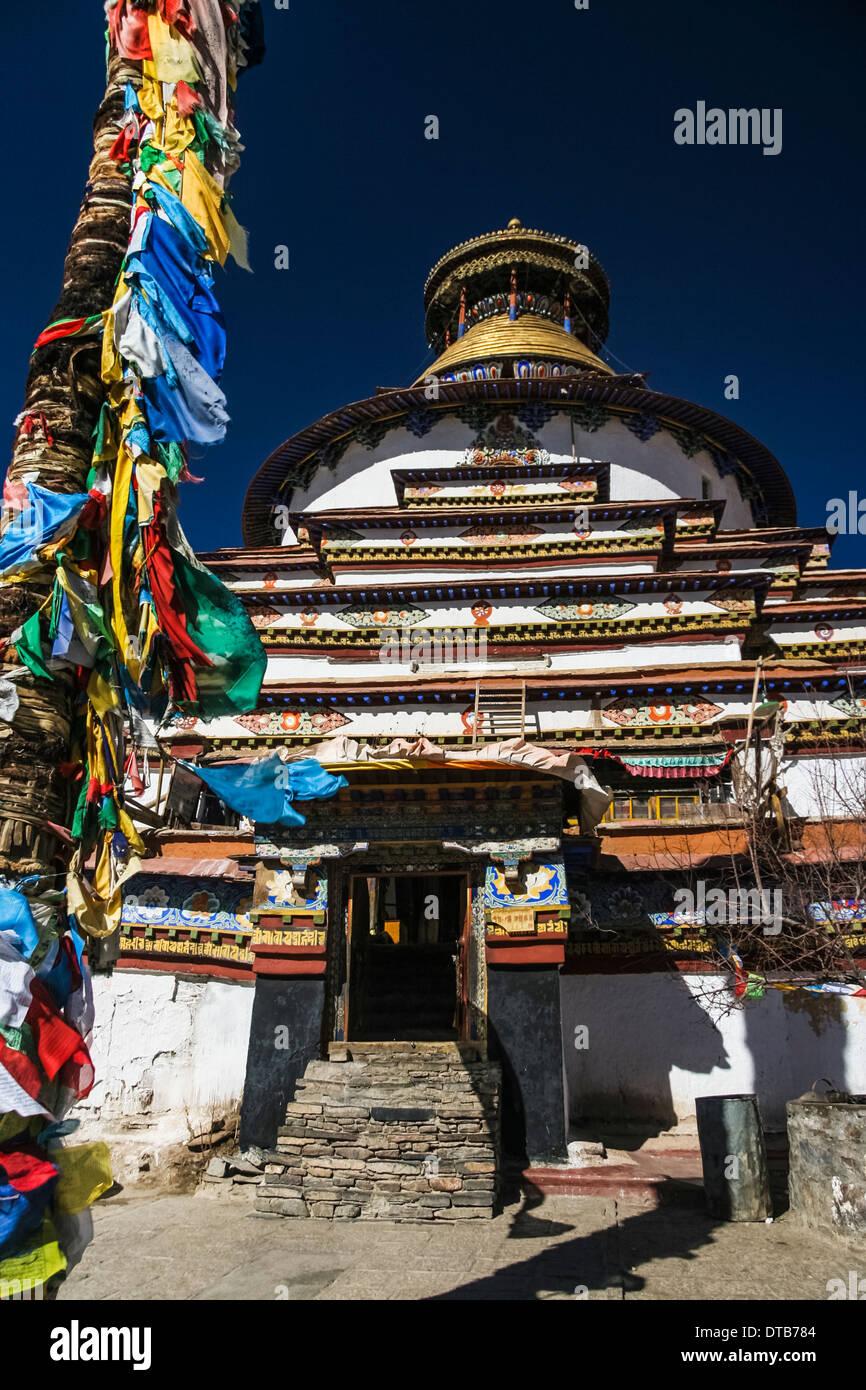 Kumbum chorten of Pelkor Chode Monastery, Gyantse, Tibet - Stock Image