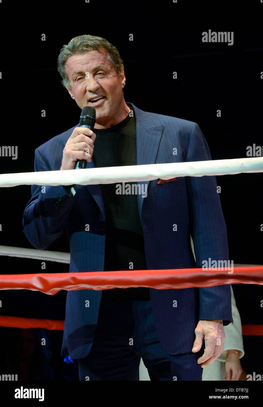 New York, NY, USA. 13th Feb, 2014. Sylvester Stallone in attendance for ROCKY First Performance of Previews on Broadway, Winter Garden Theatre, New York, NY February 13, 2014. Credit:  Derek Storm/Everett Collection/Alamy Live News - Stock Image