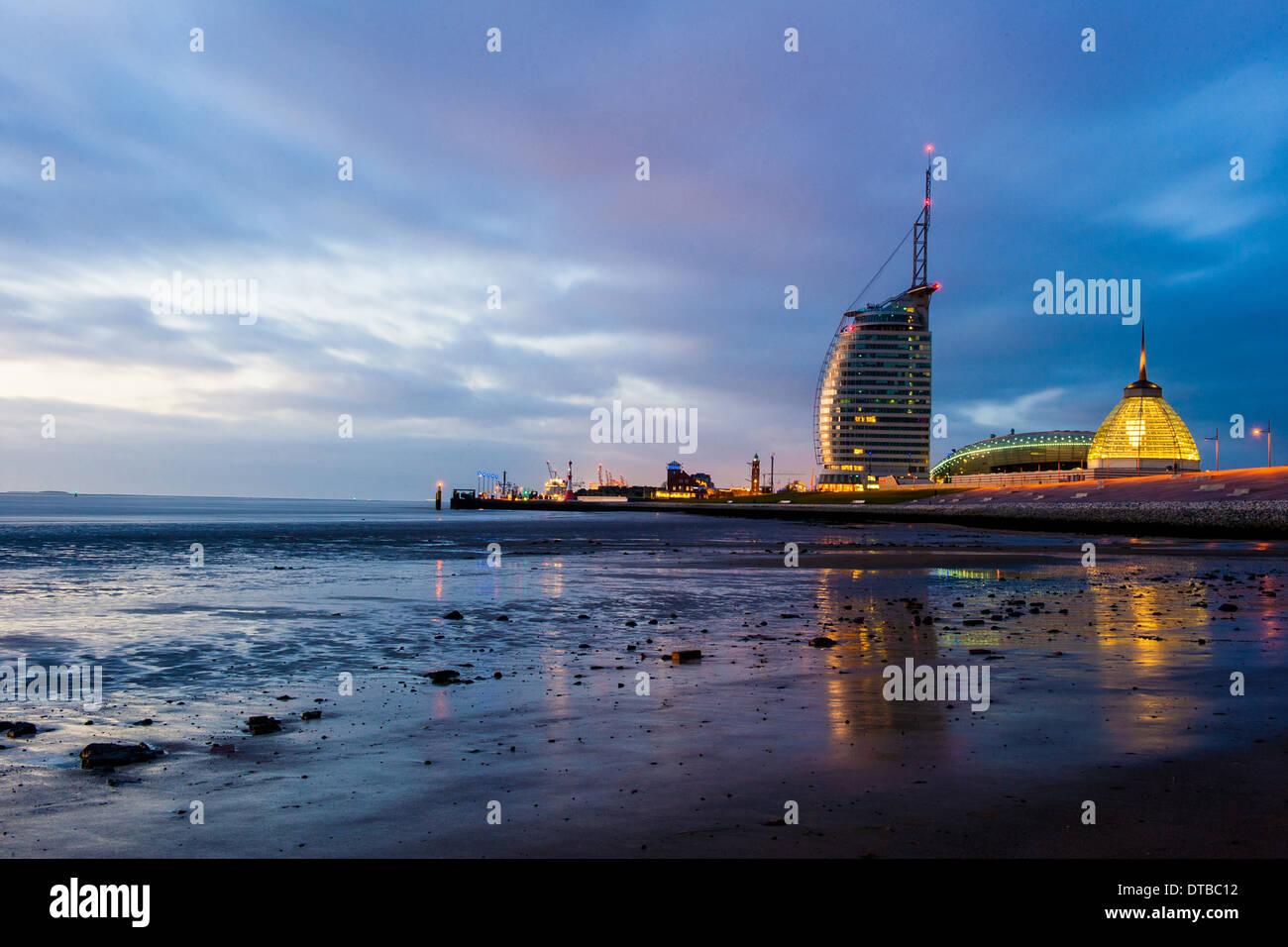 Bremerhaven, Germany , the Atlantic Hotel Sail City Stock Photo