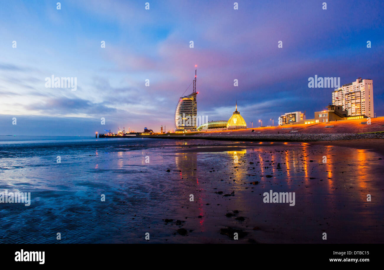 Bremerhaven, Germany , the Atlantic Hotel Sail City Stock Photo