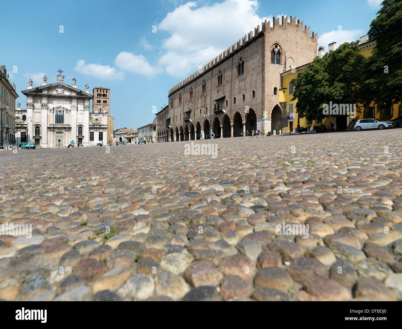 Mantua , Italy, Piazza Sordello Stock Photo
