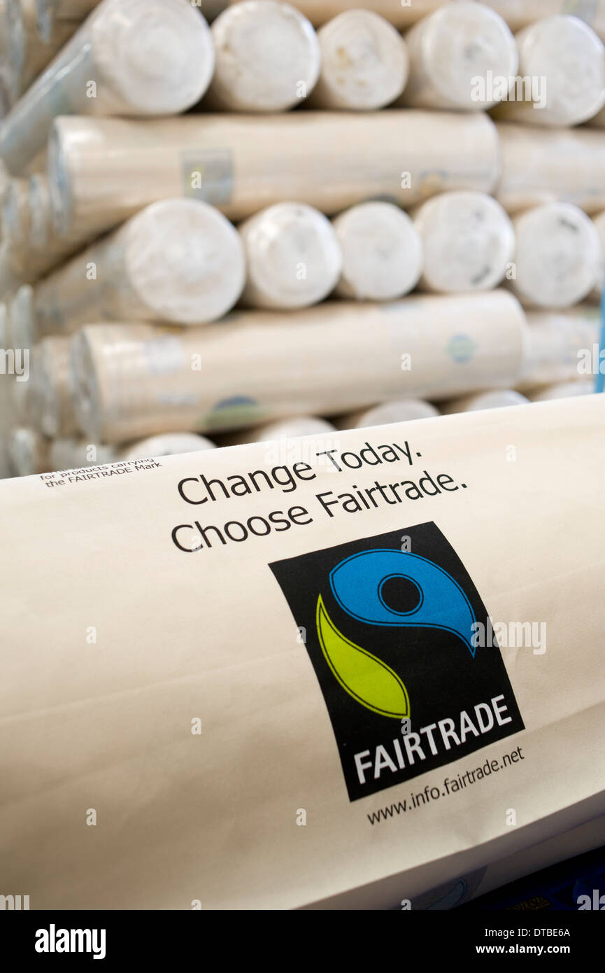 INDIA Miraj , textile factory Esteam produce fair trade cotton bags for discounter in western countries like Lidl - Stock Image