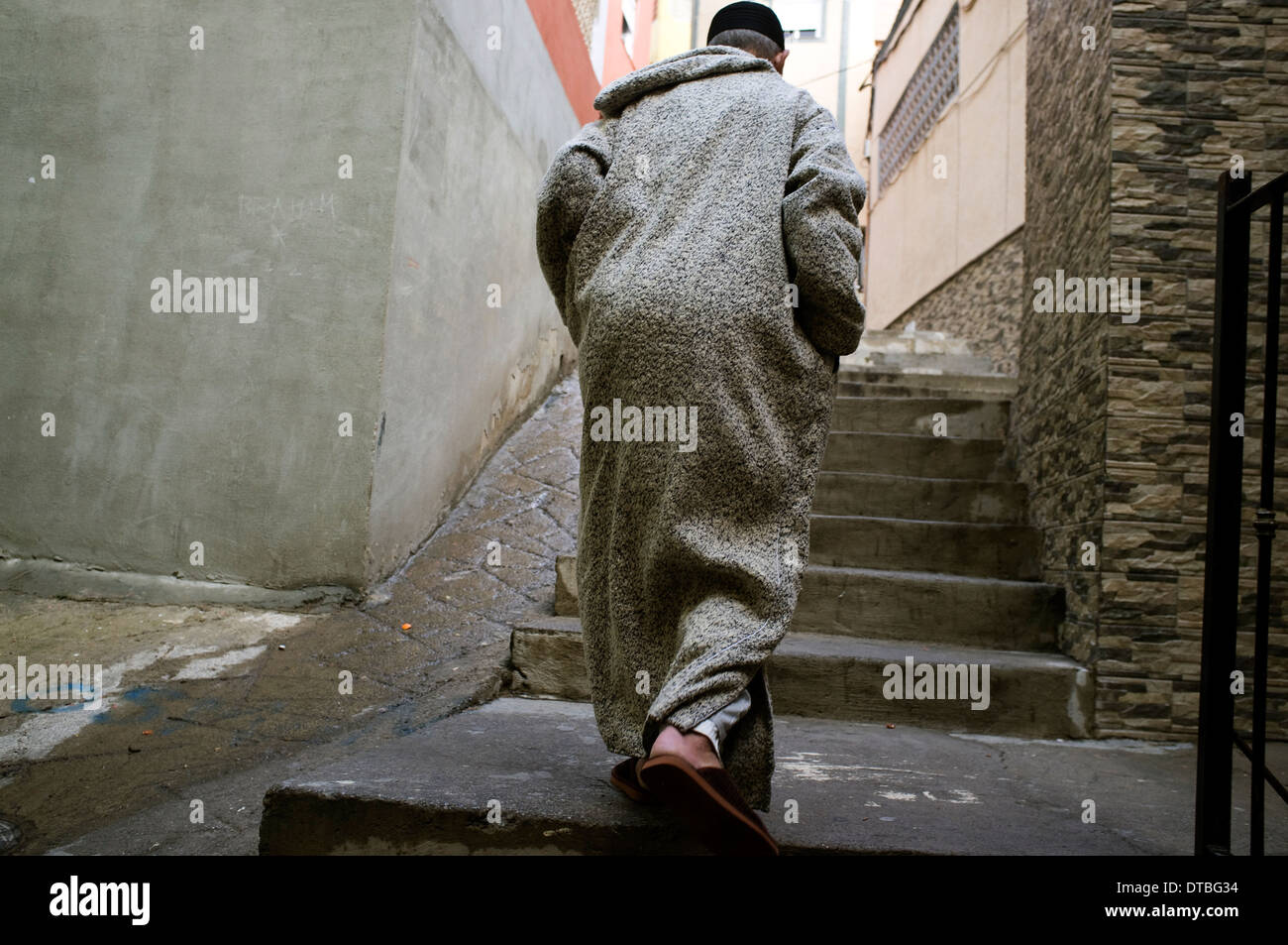 Islamic neighbourhood of Canada del Hidum in Melilla, Spain. poverty poor jobless suburb - Stock Image