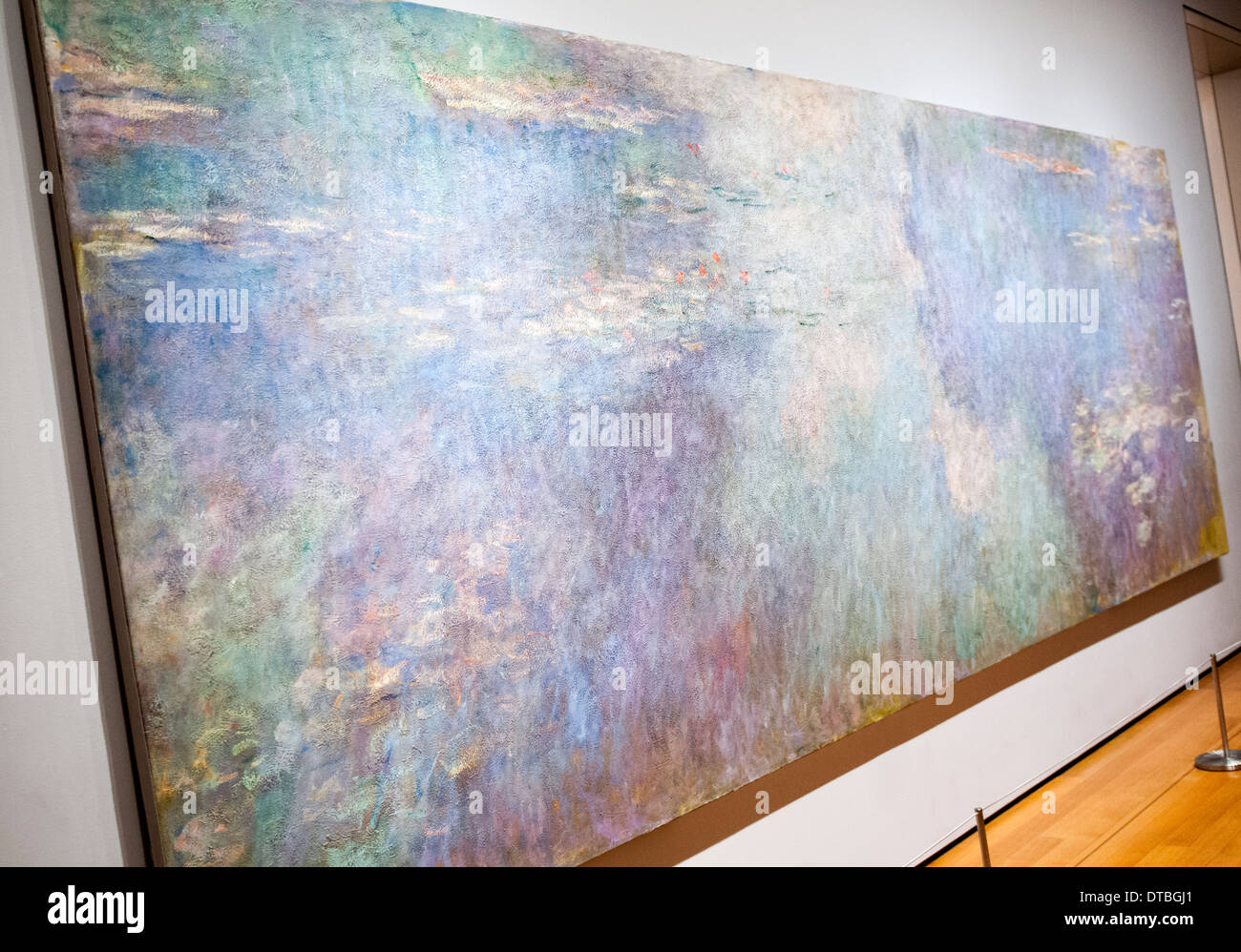 Water Lilies by Claude Monet at the Museum of Modern Art, New York City USA Stock Photo