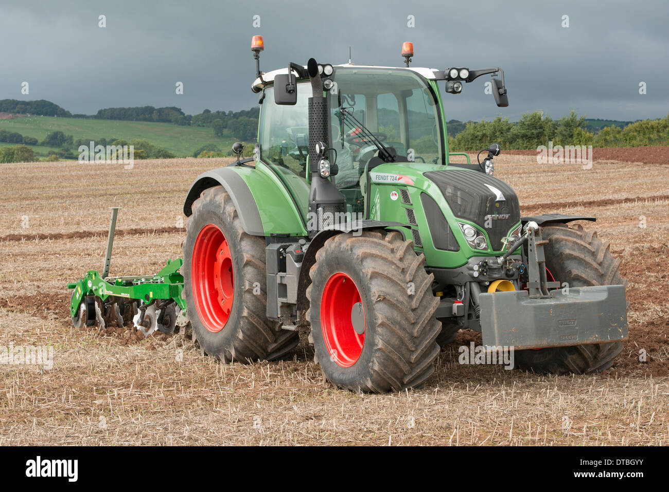 Fendt 724 tractor and Simba DTX cultivator at the 63rd British National  Ploughing Championship in 2013