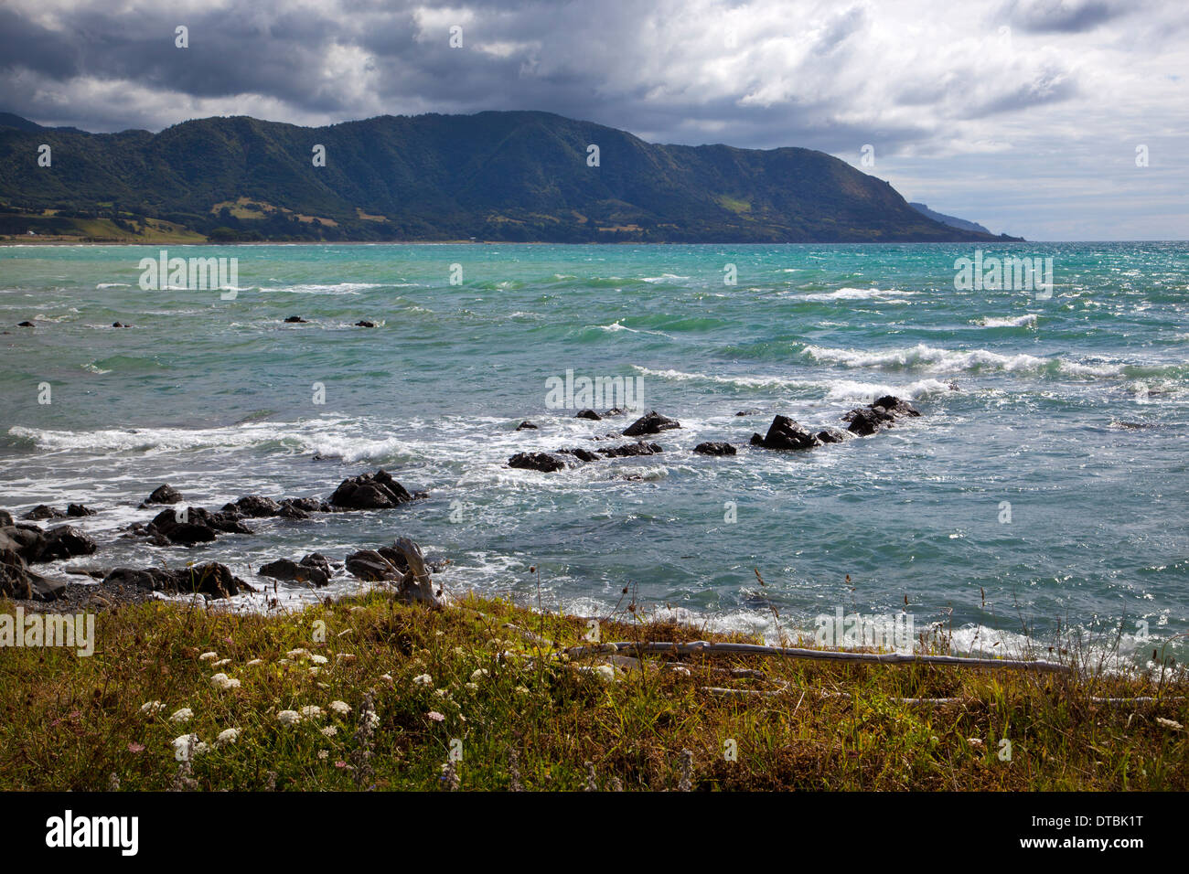 Papatea Bay, East Cape, North Island, New Zealand - Stock Image