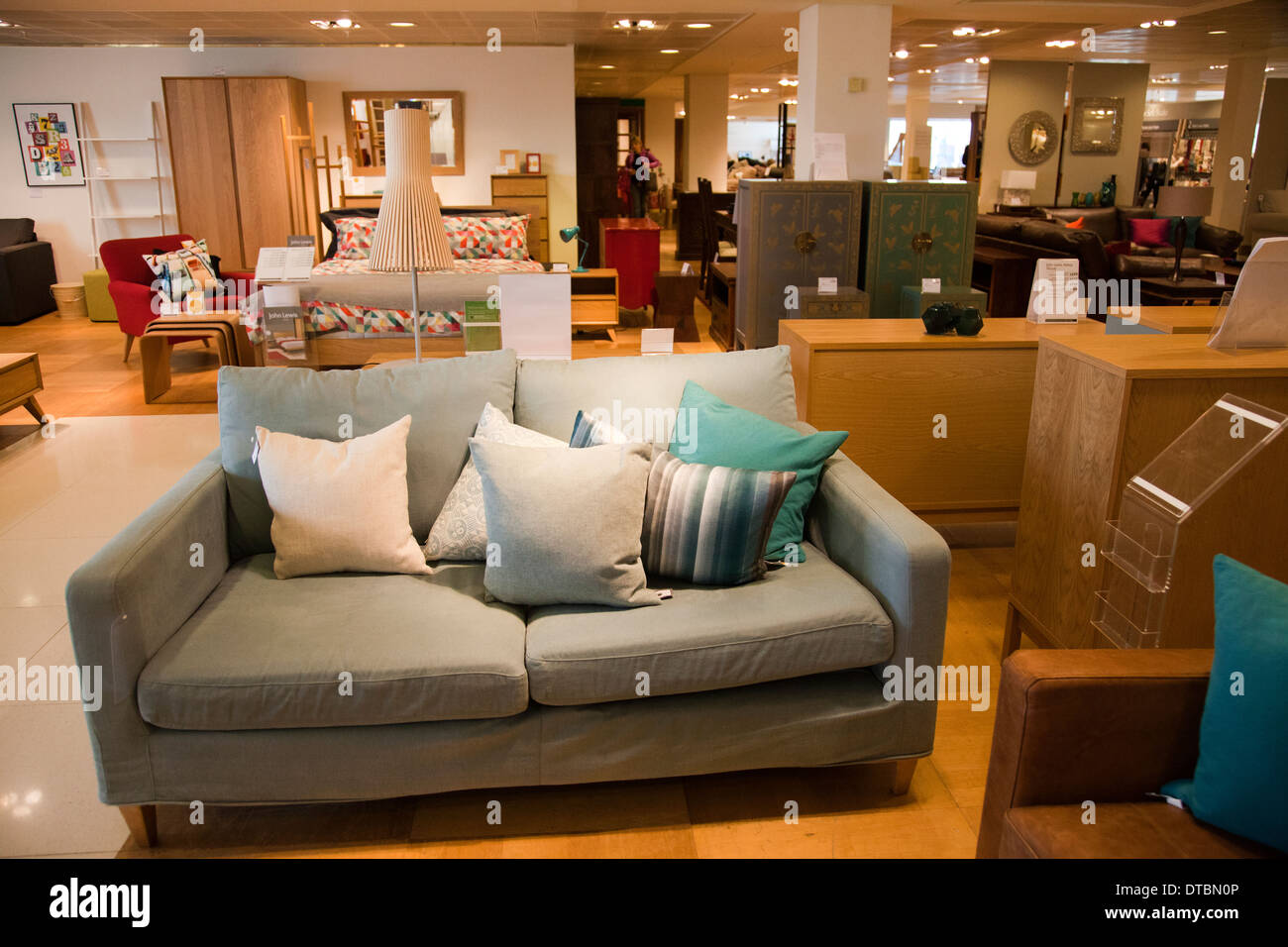 Furniture showroom uk stock photos furniture showroom uk for Department stores that sell furniture