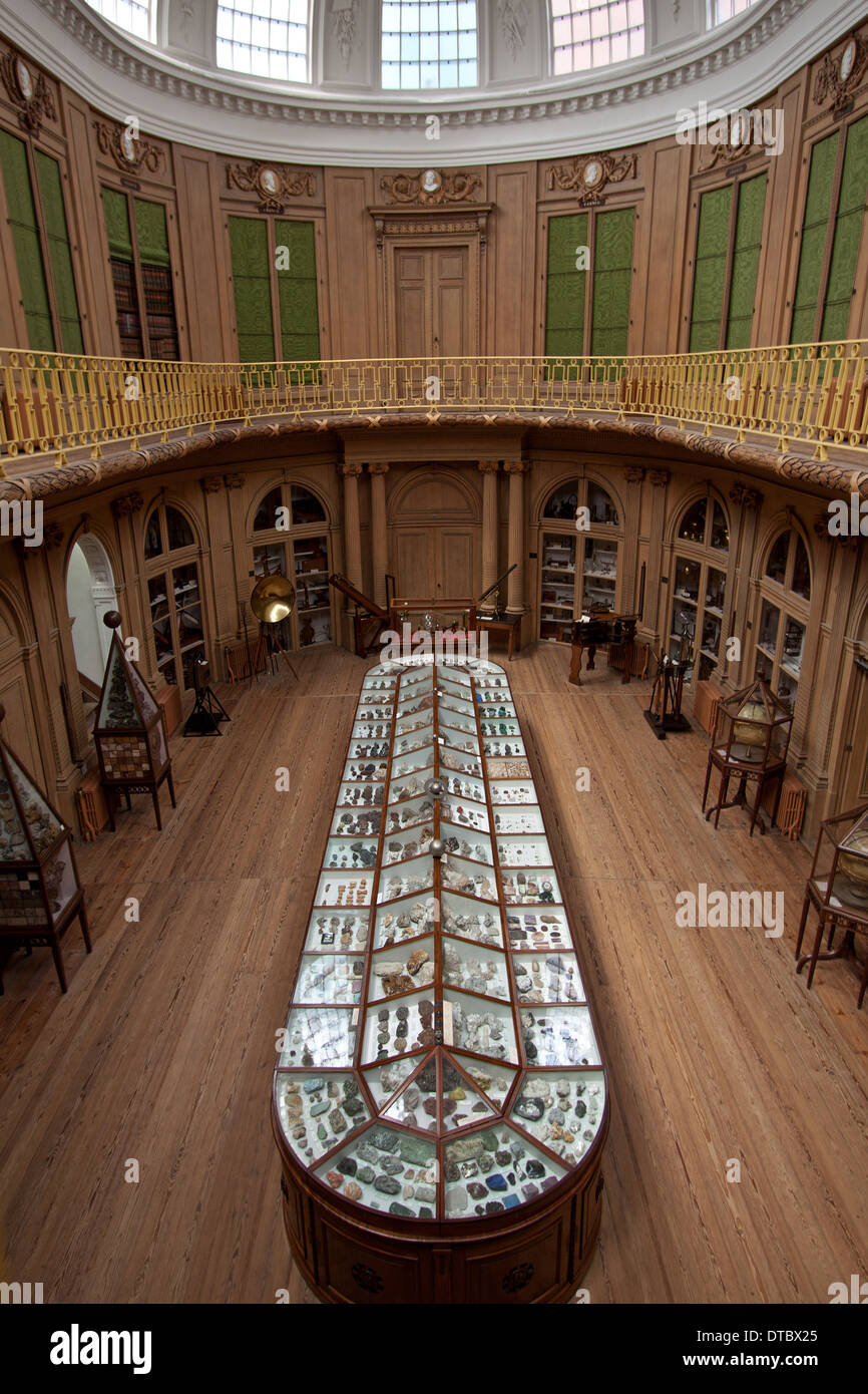 The Oval room of Teylers Museum, Haarlem, North Holland, The Netherlands. - Stock Image