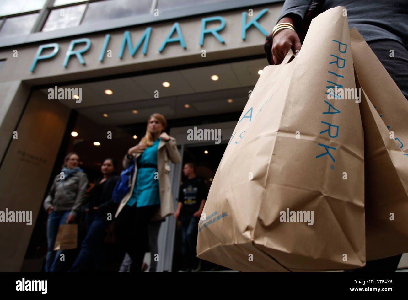 A general view of the new Oxford Street Primark store in central London, Britain 20 September 2012. - Stock Image