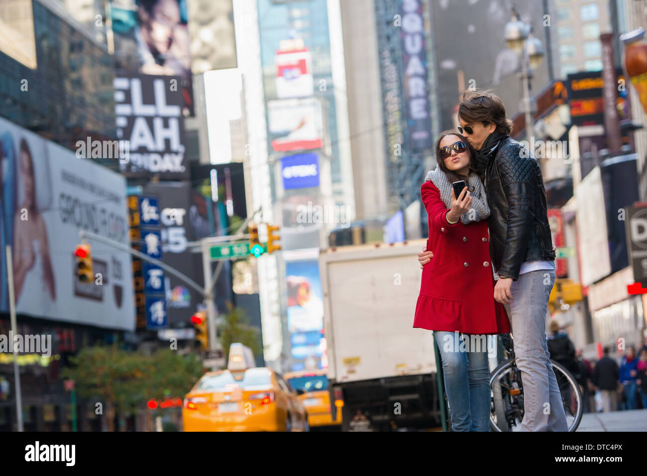 Young couple on vacation, New York City, USA Stock Photo
