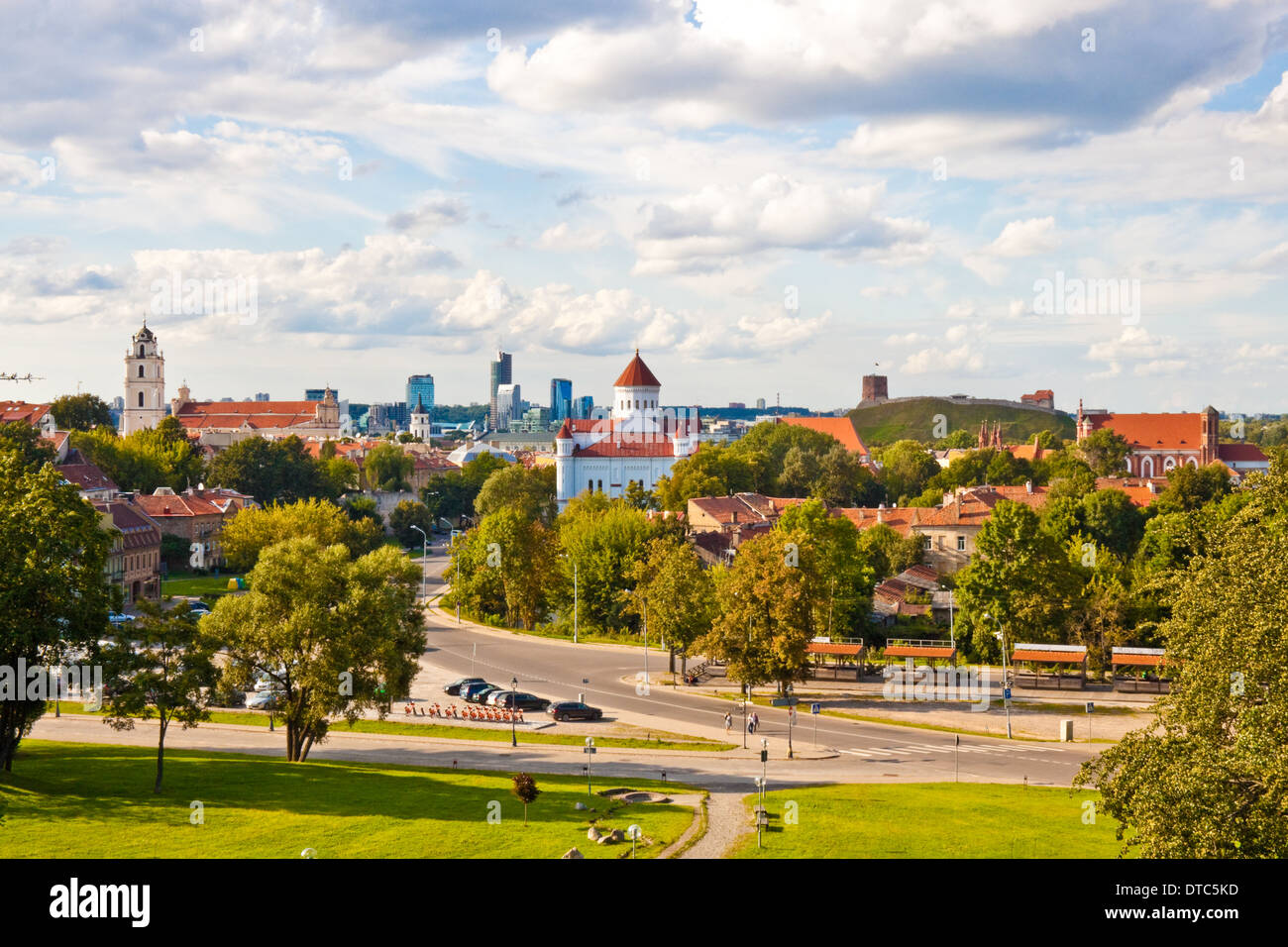 view of Vilnius, Lithuania - Stock Image