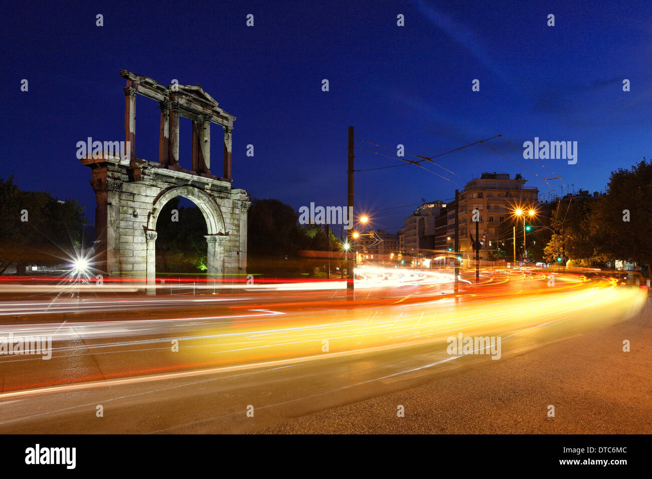 Arch of Hadrian (132 A.D.) in Athens, Greece - Stock Image