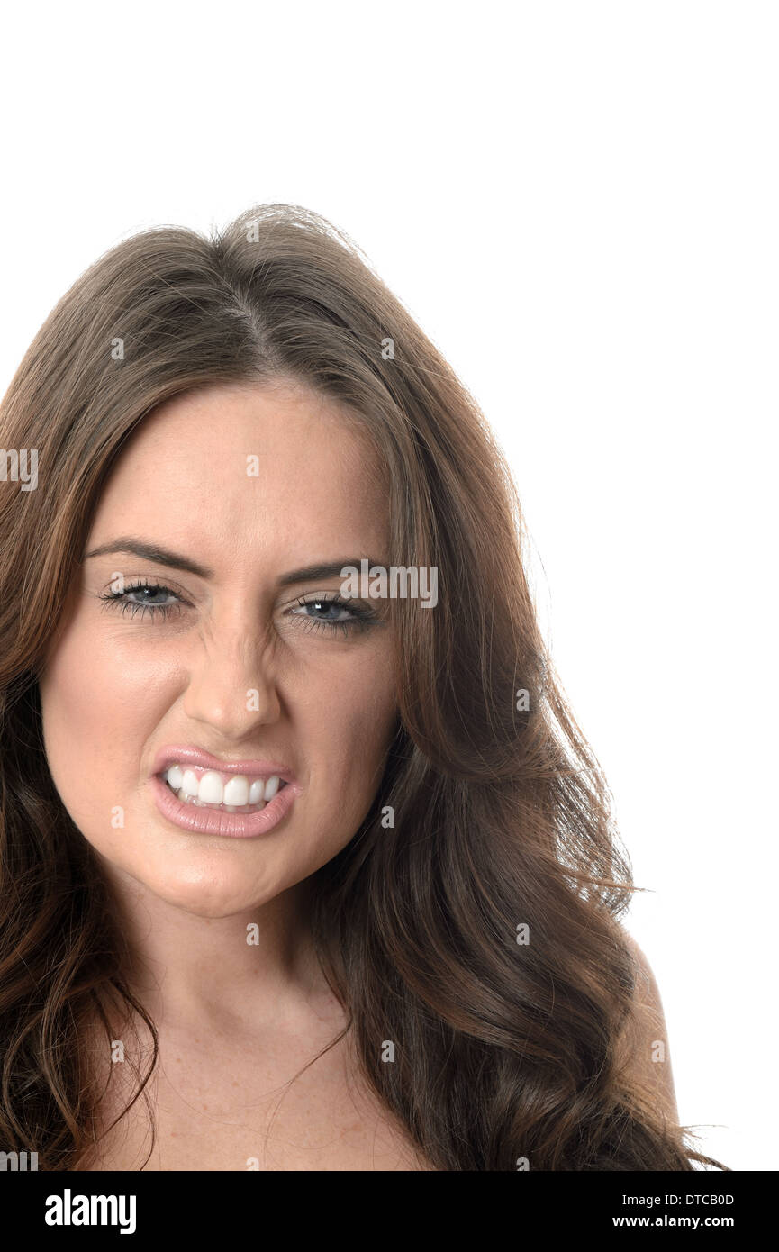 Angry Young Woman - Stock Image