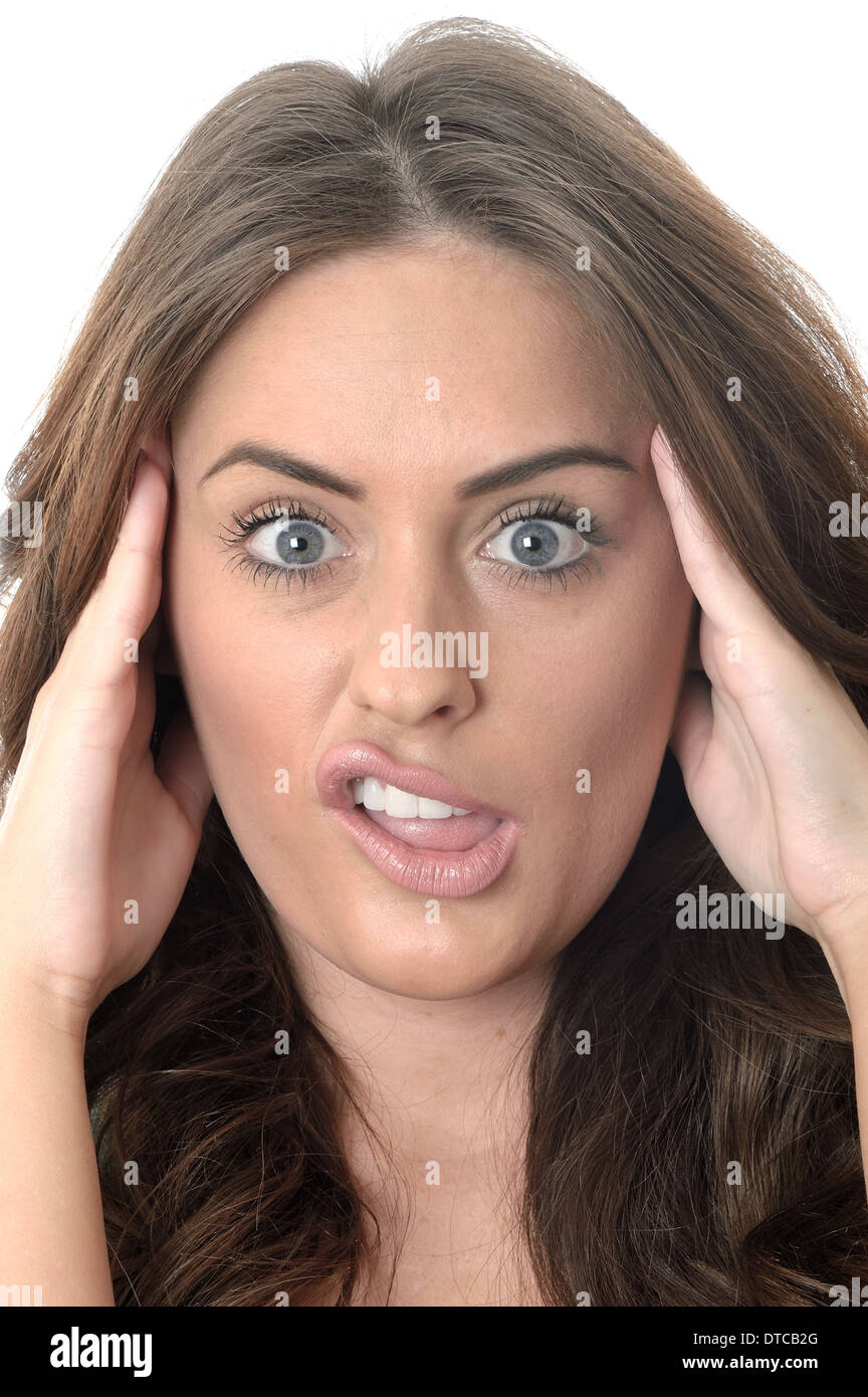 Attractive Young Woman Pulling Silly Faces Stock Photo Alamy