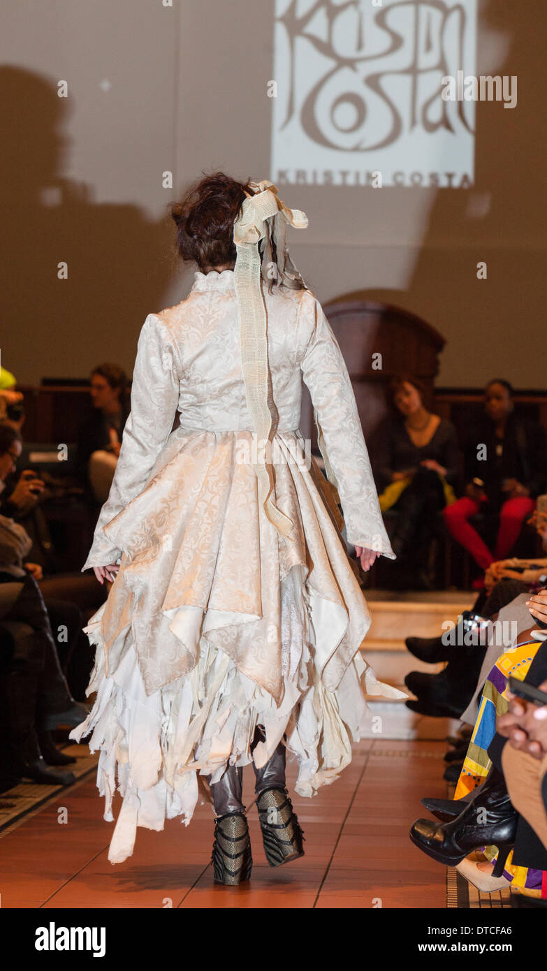 New York Fashion Week Fashion Show February 13 In Holy Apostles Stock Photo Alamy