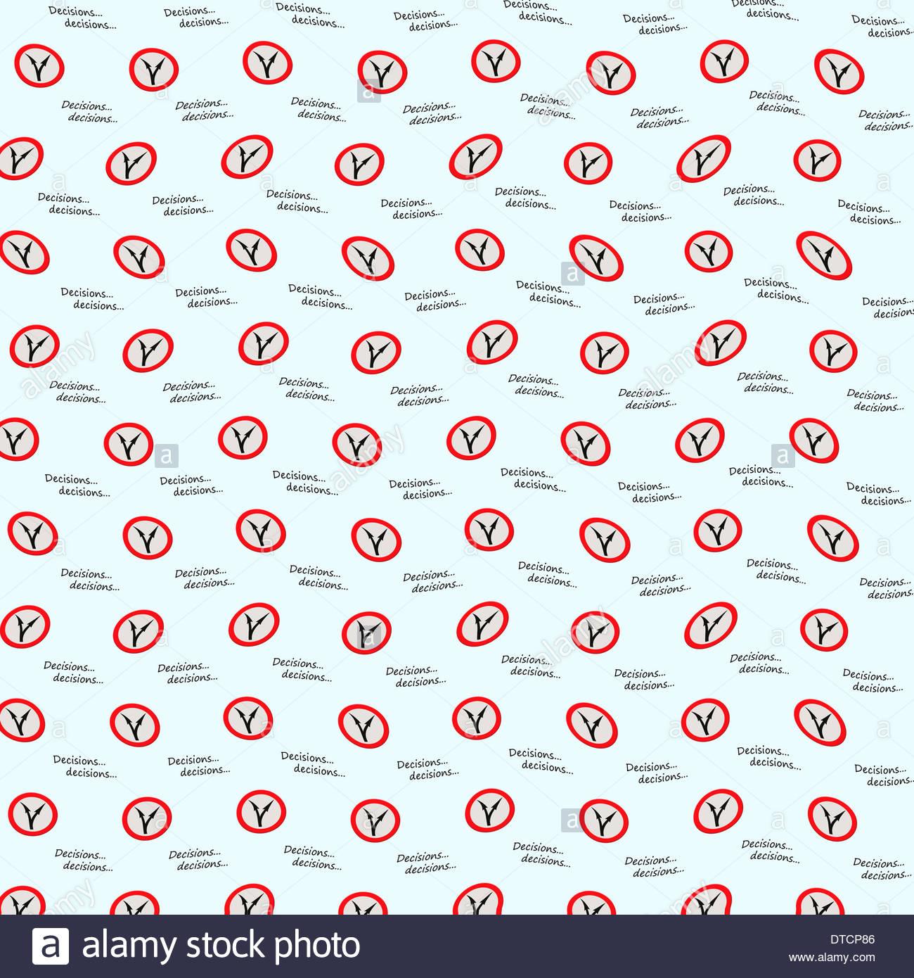Digital Composition Concept - Decisions decisions wallpaper. - Stock Image