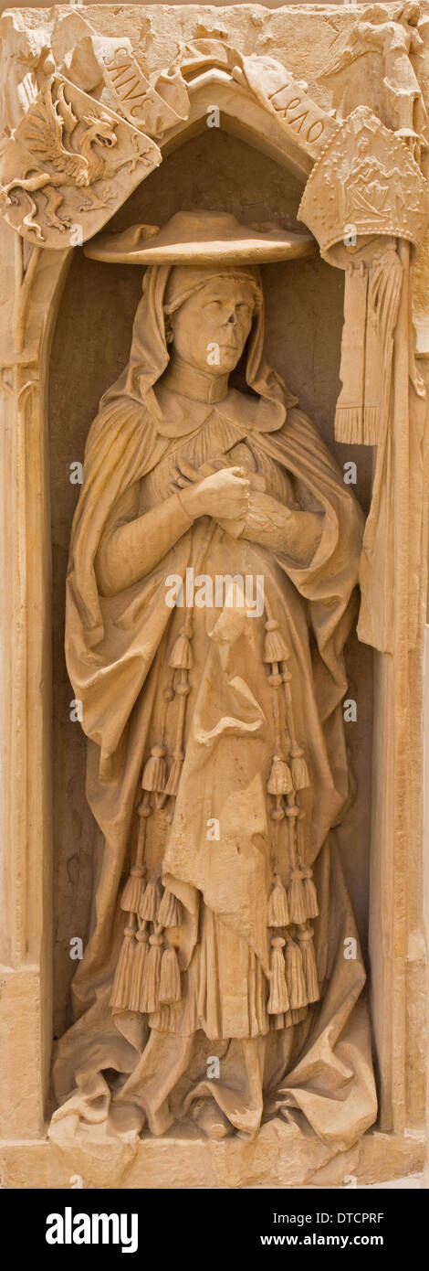 Bratislava - Juraj Schomberg - founder of university Academia Istropolitana in St. Ann  chapel in st. Martin cathedral. - Stock Image