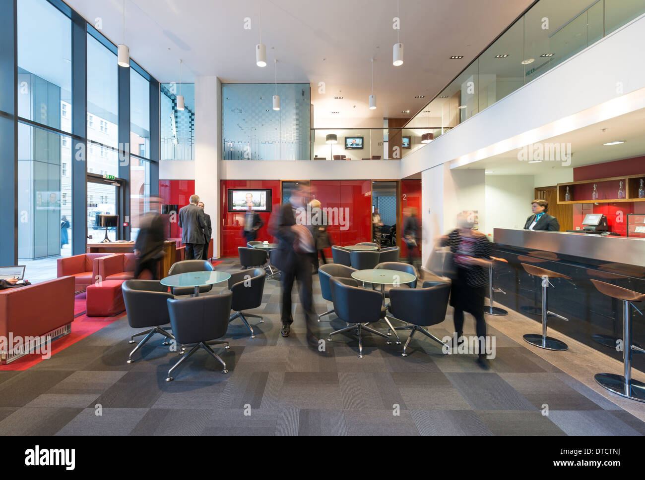 The business lounge at 11 Brindleyplace. - Stock Image
