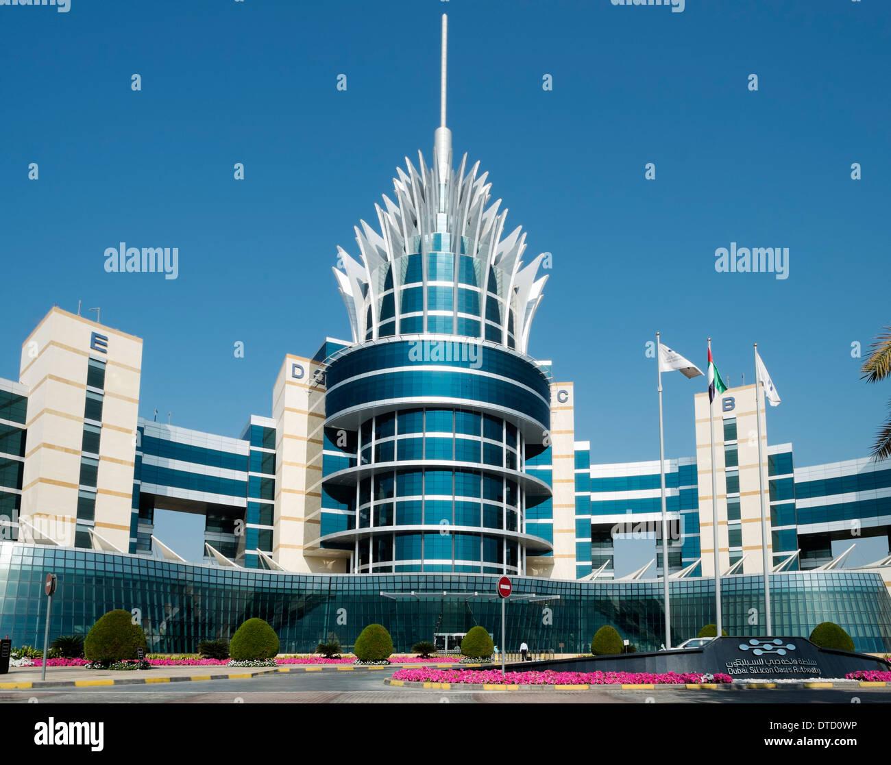 Dubai Silicon Oasis Authority Building in Dubai United Arab Emirates - Stock Image